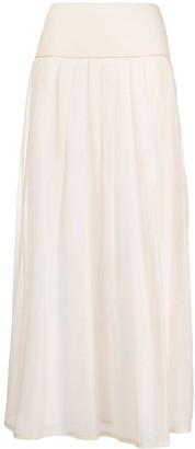 Peserico Pleated Maxi Skirt