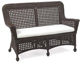 The Well Appointed House Wicker Riviera Settee with Cushion in Variety Colors