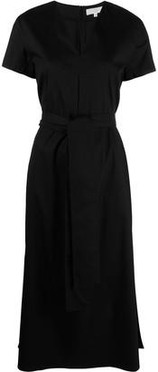 Antonelli V-neck poplin midi dress
