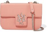 Alexander McQueen Insignia Textured-leather Shoulder Bag - Pink