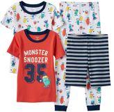 Carter's Boys 4-8 Monsters 4-Piece Pajama Set