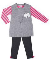 Little Lass Pink & Gray Jumper Set - Infant Toddler & Girls