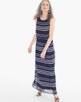Chico's Bi-Color Stripe Maxi Dress