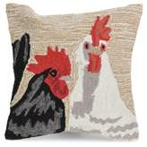Liora Manné Frontporch Rooster Duet Indoor and Outdoor Square Pillow