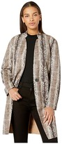 Blank NYC Snakeskin Faux Suede Coat (Snake Charmer) Women's Clothing