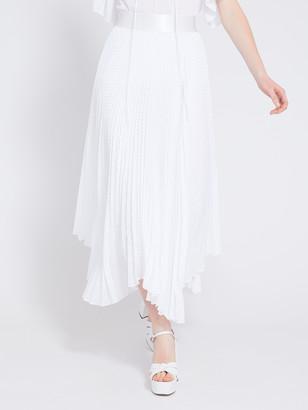 Alice + Olivia Katz Pleated Midi Skirt