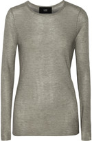 Line Barton ribbed modal and cashmere-blend sweater