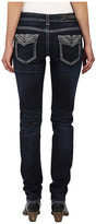 Rock and Roll Cowgirl Low Rise Skinny in Dark Wash W0S4490