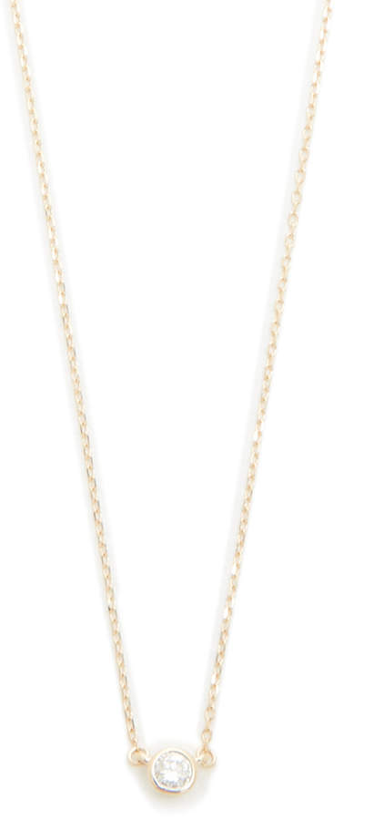Adina 14k Gold Single Diamond Necklace