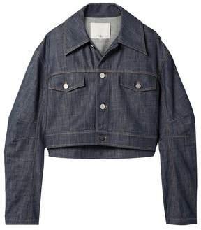 Tibi Cropped Denim Jacket
