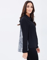 Privilege Pleated Back Shirt
