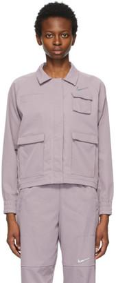 Nike Purple Sportswear Swoosh Jacket