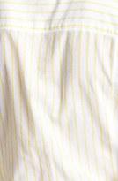 Caslon Long Sleeve Shirt Washed White/ Yellow Stripe Small P