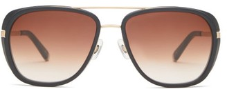 Matsuda Aviator Acetate Sunglasses - Brown