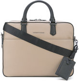 Emporio Armani removable shoulder strap briefcase - men - Leather - One Size