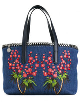 Stella McCartney Falabella embroidered denim shopper