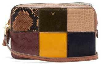 Anya Hindmarch Patchwork Snake-effect Leather Cross-body Bag - Multi