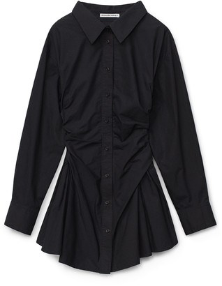 alexanderwang.t Cinched Cotton Shirt Dress