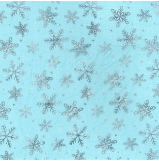 Oddies Textiles Organza Snowflake Print Fabric