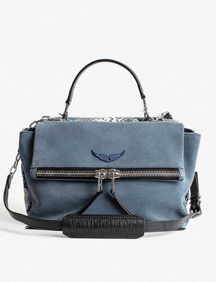 Zadig & Voltaire Twin suede shoulder bag