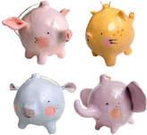 Four Animal Ornaments