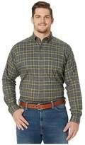 Ariat Big Tall Eldridge Flannel Shirt (Multi) Men's Long Sleeve Button Up