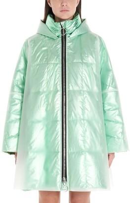 Ienki Ienki Pyramide Iridescent Quilted Hooded Raincoat