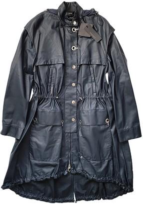 Versace Blue Leather Coats