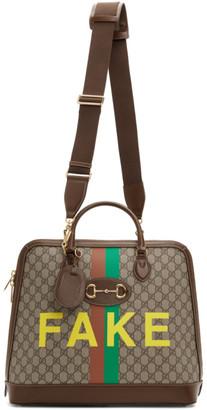 Gucci Beige Fake/Not Small GG Superstar Duffle Bag