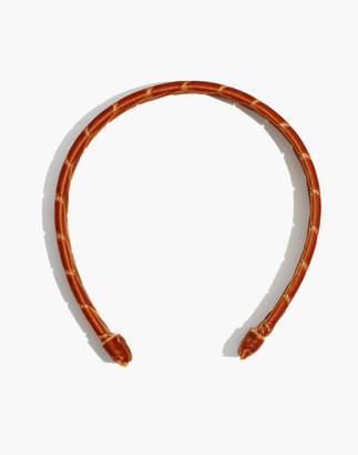 Madewell Wrapped Velvet Padded Headband