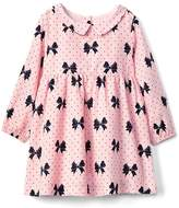 Gap Bow print collar dress