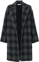 Vince tartan button up coat
