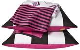 Hello Kitty Neon Sheet Set - Black/Pink/White Stripe (Full)