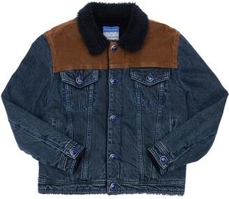 Jacob Cohen Cotton Denim Jacket W/ Faux Shearling