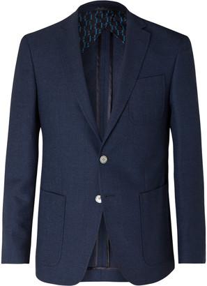 HUGO BOSS Raye Slim-Fit Unstructured Wool, Linen And Silk-Blend Blazer