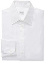 Armani Collezioni Cotton Solid Spread Collar Dress Shirt