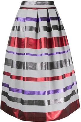 Emporio Armani metallic stripe midi skirt