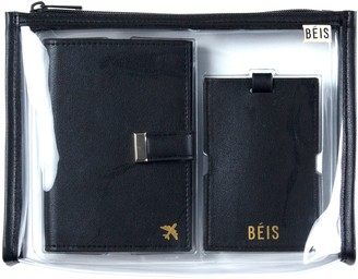 Béis The Travel Set Passport Wallet, Pouch & Luggage Tag