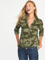 Old Navy Classic Slub-Weave Shirt for Women