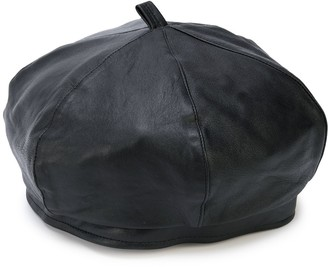 Our Legacy Leather Beret Hat