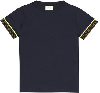 Fendi Kids Logo cotton T-shirt