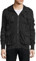 G Star G-Star Kriyo Hooded Long-Sleeve Sweat Jacket, Black