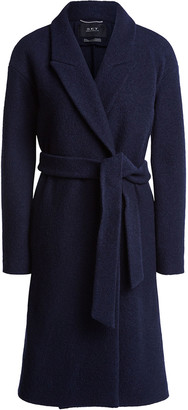 Set Fashion - Coat to tie With a large lapel collar - 36 | wool | blue - Blue/Blue