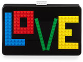 Les Petits Joueurs Handbags Andy Rainbow Love Clutch Bag, Black