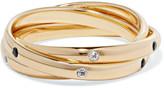 Elizabeth and James Mila gold-tone crystal ring