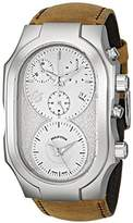 Philip Stein Teslar Men's 300-SLG-CASTM Swiss Signature Analog Display Swiss Quartz Brown Watch