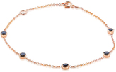 Kobelli Jewelry Kobelli 1/2 CT TW Round-Cut Black Diamond 14K Rose Gold Link Bracelet