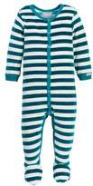 Coccoli Velour Striped Footie (Baby Boys)