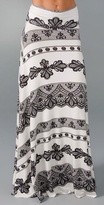 Print Long Full Skirt