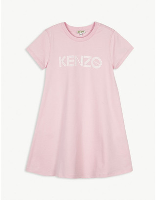 Kenzo Logo-print cotton dress 4-14 years